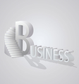 Business Stair vector image
