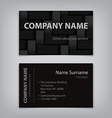 modern business name card abstract kevlar template vector image