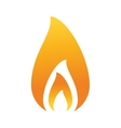 fire flame burning hot design vector image