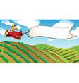 A boy riding in a plane vector image vector image