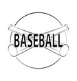 abstract baseball label vector image vector image