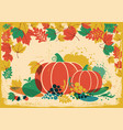 autumn harvest festival vintage thanksgiving vector image