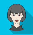 avatar girl with short hairavatar and face single vector image vector image