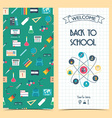 Bilateral vertical school flyer brochure banner vector image vector image