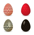 black and red egg vector image