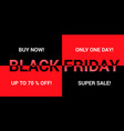 black friday advertising background vector image vector image