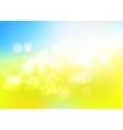 Bokeh blur romantic blue yellow backdrop for eco vector image