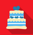 cake icon in flat style for web vector image vector image