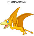 cartoon pterosaurus isolated on white background vector image