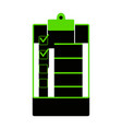 checklist sign green 3d icon vector image vector image