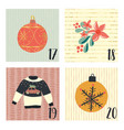 christmas advent calendar hand drawn vector image vector image