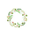 christmas wreath greetings card vector image