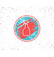 cleaning spray line icon washing liquid vector image vector image