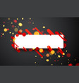 colorful rectangular background on gray vector image