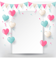 Confetti with buntings ribbons and balloons vector image vector image