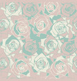 cute seamless pattern with roses vector image vector image