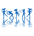 dancing harlequins vector image vector image