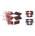 dispersed dotted halftone open box icon vector image vector image
