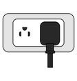 energy plug with socket vector image vector image