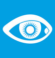 eye icon white vector image vector image