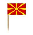flag macedonia flag toothpick 10eps vector image vector image