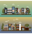 flat of two family house and vector image
