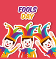 fools day greeting card vector image vector image