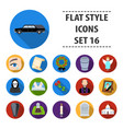 Funeral ceremony set icons in flat style big