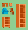 Furniture icons isolated