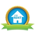 Gold for rent logo vector image vector image