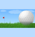 golf club concept banner cartoon style vector image vector image