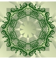 Green stylized mandala blank center for ext banner vector image vector image