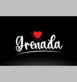 grenada country text typography logo icon design vector image vector image