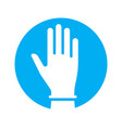 hand in glove icon symbol fight against vector image