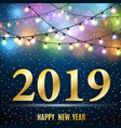 happy new 2019 year vector image