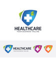 health care logo design vector image vector image