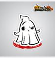 helloween evil ghost voodoo doll pop art comic vector image vector image