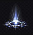 hologram blue ray or ufo portal magic beam vector image vector image