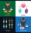 jewelry shop with different luxury accessories vector image vector image