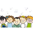 kids singing vector image vector image