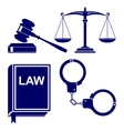 law abstract icon set vector image vector image
