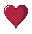 lovely heart isolated vector image vector image