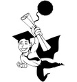 Male graduate clipart vector image vector image