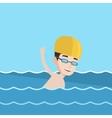 Man swimming vector image vector image