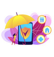 on-demand insurance concept vector image