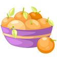 oranges in basket vector image vector image