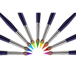 Paint brushes background vector image vector image