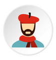 painter in red hat icon flat style vector image vector image