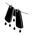 pants drying icon simple style vector image vector image