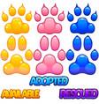pet adoption assets vector image
